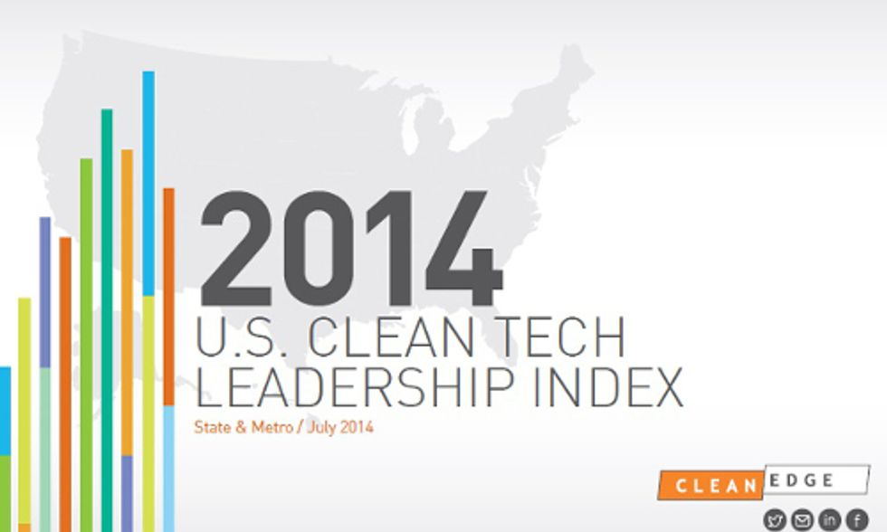 Does Your State Make the Cut in 2014 Clean Tech Leadership Index?