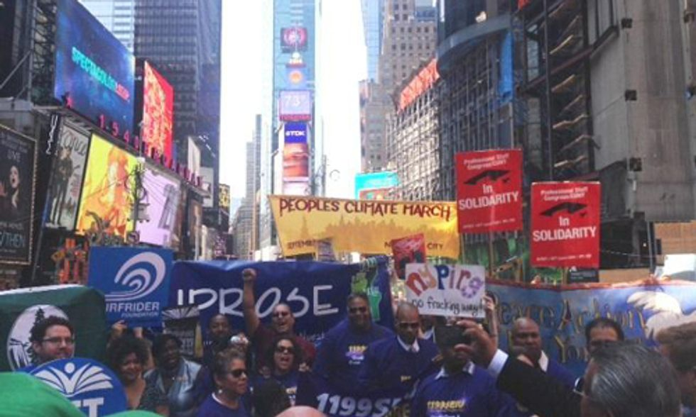 People's Climate March—Largest Climate March in World History—Launched in Times Square