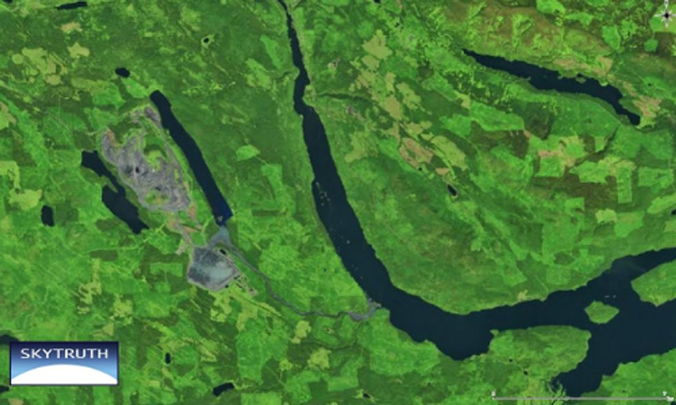 Massive Spill at Canadian Gold Mine Detected By Satellite