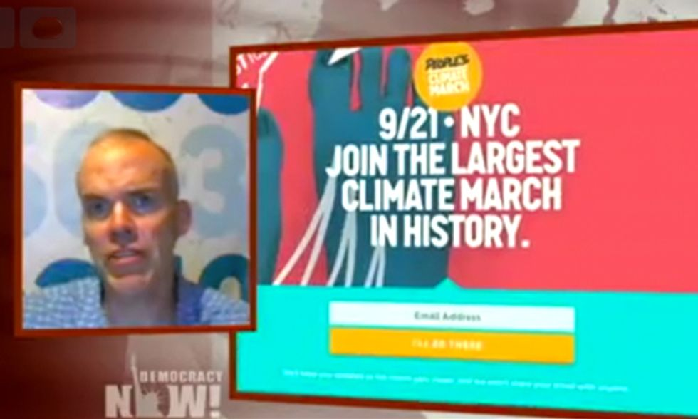 Bill McKibben on Democracy Now!: Obama's Nonbinding Climate Deal, IPCC Report, People's Climate March
