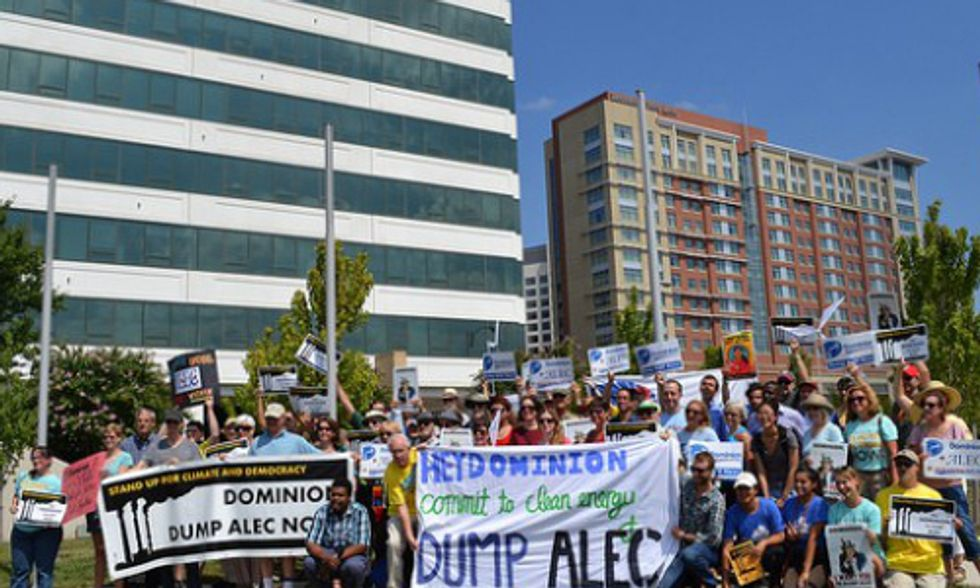 Virginians Pressure Dominion to Dump ALEC