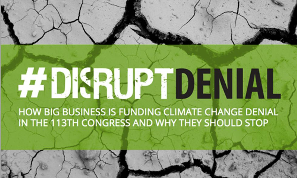 Report Says 'Green' Businesses Donate Millions to Congressional Climate Deniers