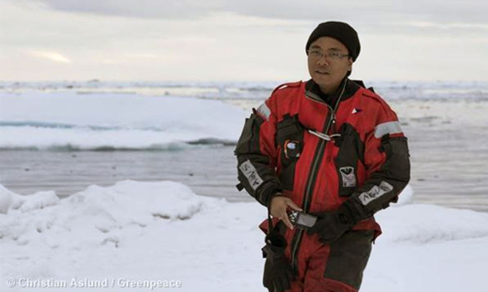 Yeb Saño from the Arctic: Burning Fossil Fuels Chief Cause of Climate Change