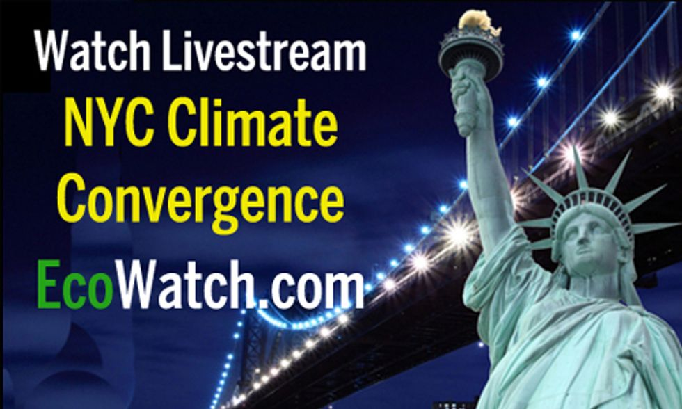 WATCH LIVESTREAM: NYC Climate Convergence: The Warm Up to People's Climate March