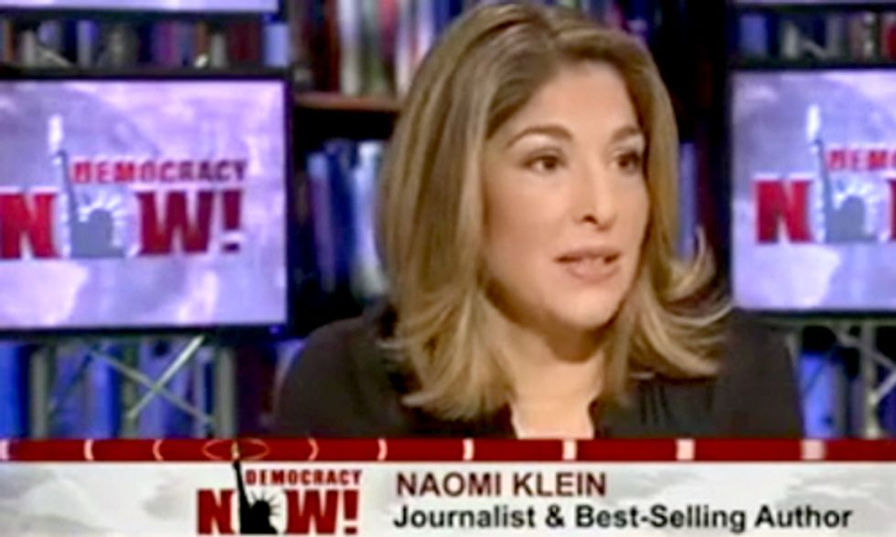 Naomi Klein on Democracy Now! Discussing Capitalism vs. the Climate