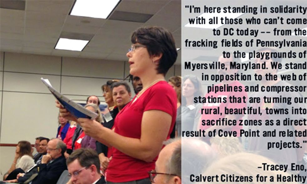 Citizens Speak Out Against Proposed Cove Point LNG Export Facility at FERC Meeting