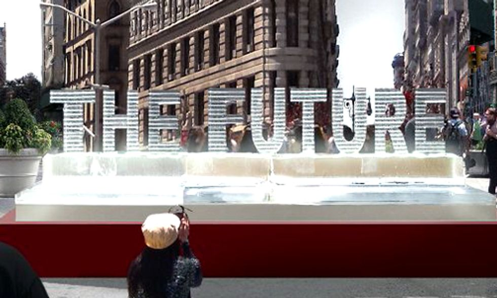 Watch Live: 'The Future' Ice Sculpture Exposes Reality of Climate Change