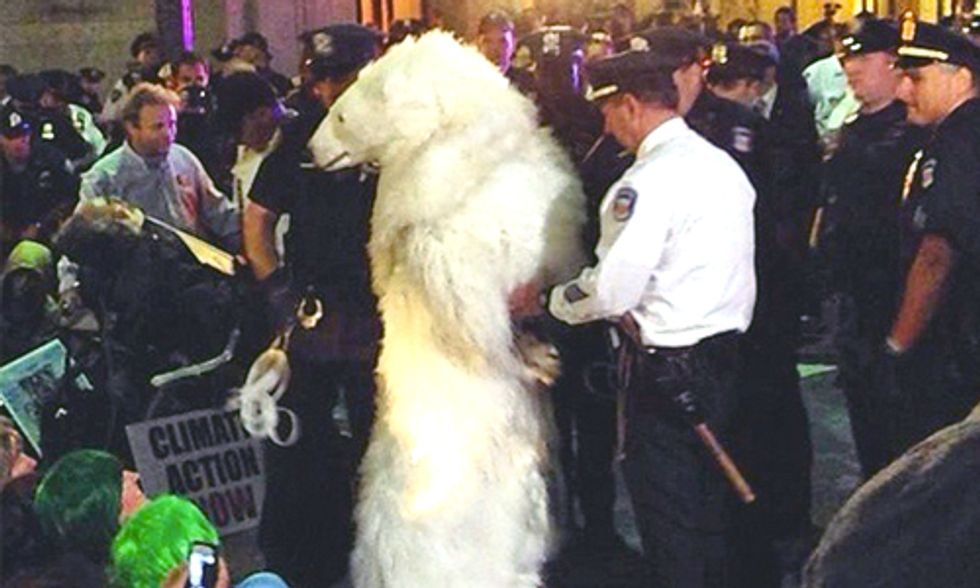 102 Arrested at Flood Wall Street