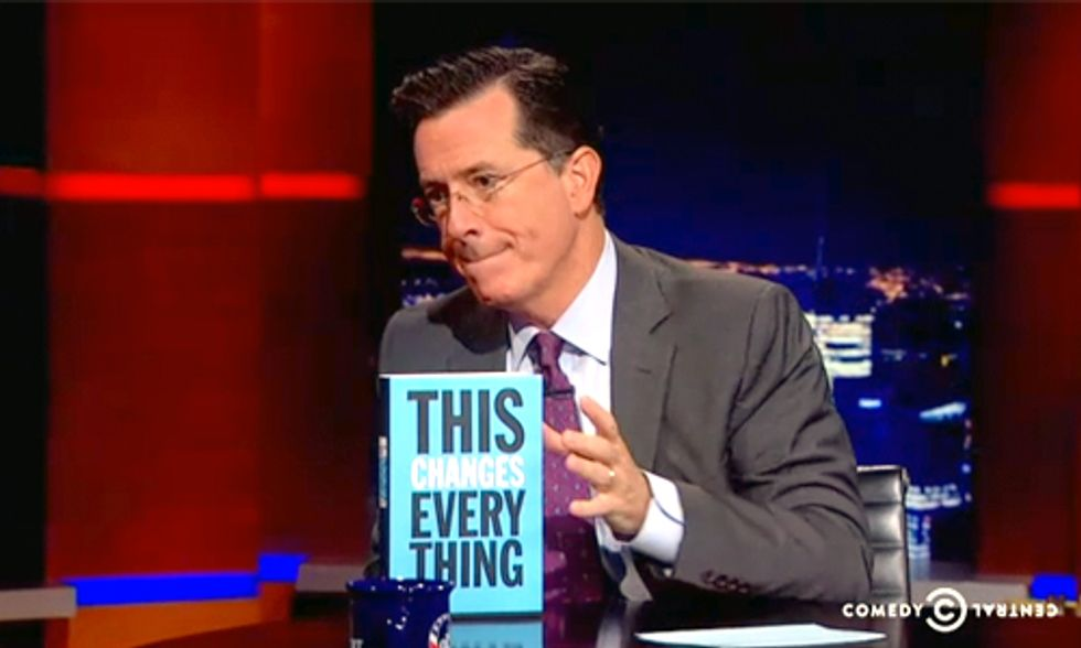 Capitalism vs. The Climate: Stephen Colbert Talks To Naomi Klein