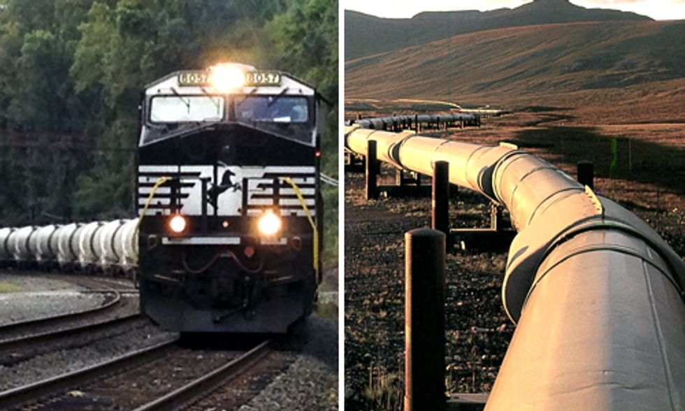 Transporting Fossil Fuels: Rail vs. Pipeline is the Wrong Question