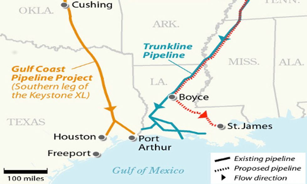 TransCanada's Keystone Pipeline's Southern Leg to Begin Transporting Oil to U.S. Gulf Coast