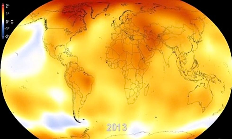 NASA Animation Shows Relentless Pace of 60 Years of Global Warming in 15 Seconds