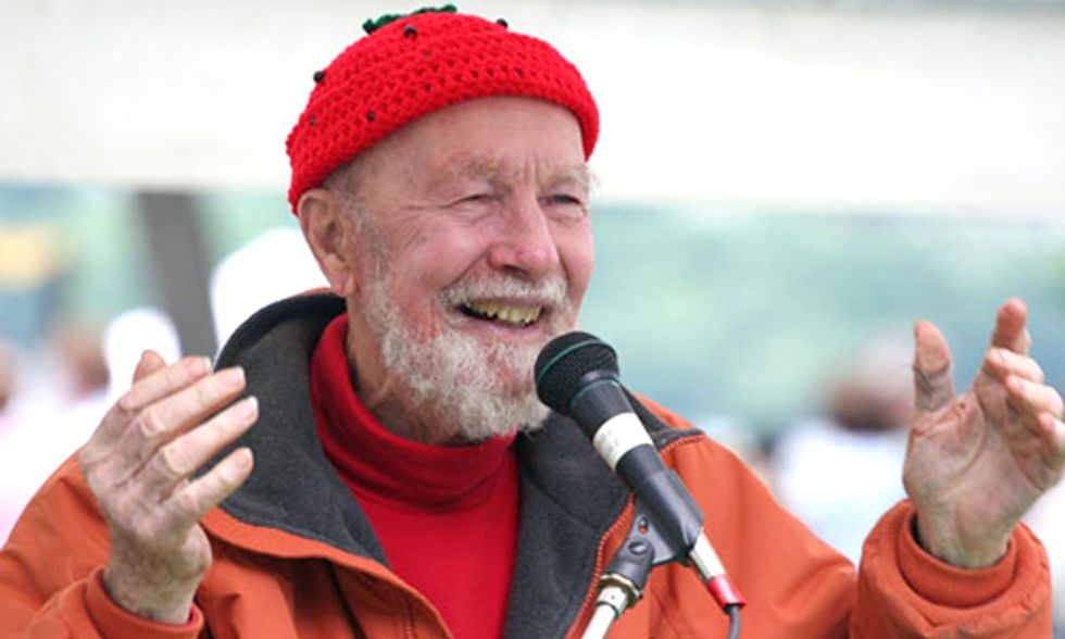 Pete Seeger: From Way Up Here the Earth Looks Very Small