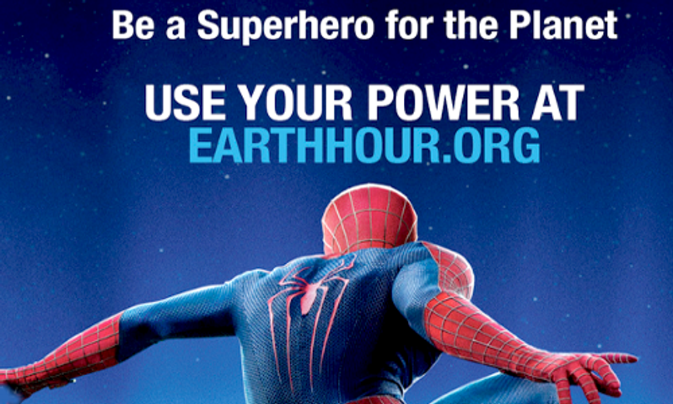 Spider-Man Joins Earth Hour 2014
