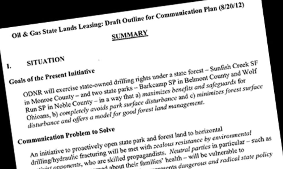 Plan Shows Regulatory Agency and Fracking Industry in Cahoots to Promote Drilling in State Parks