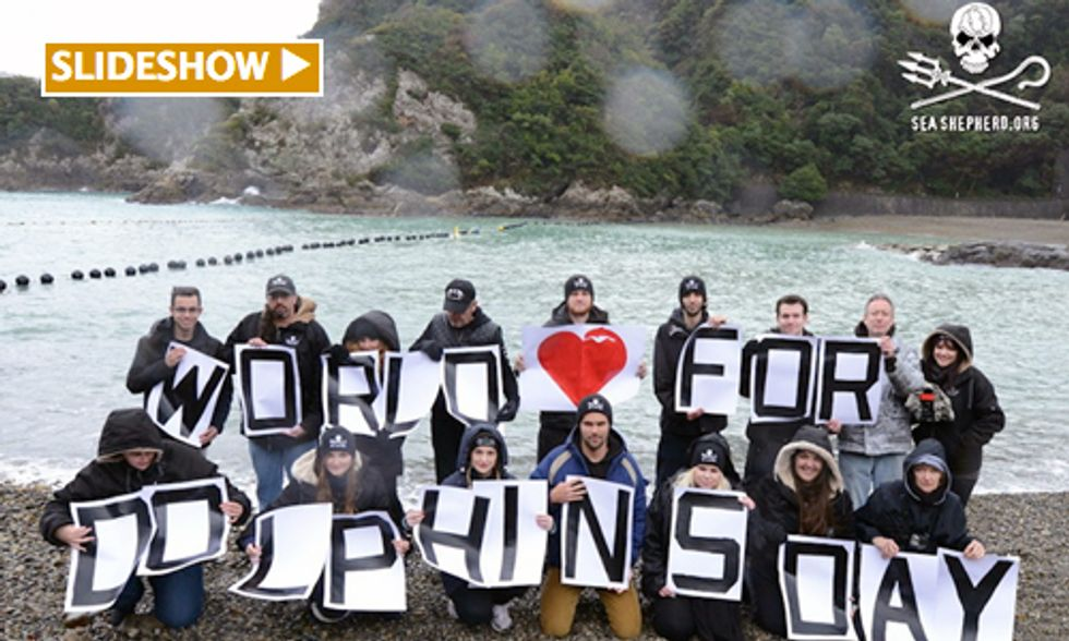 Sea Shepherd Supporters Rally Worldwide Calling for End to Brutal Taiji Dolphin Hunts