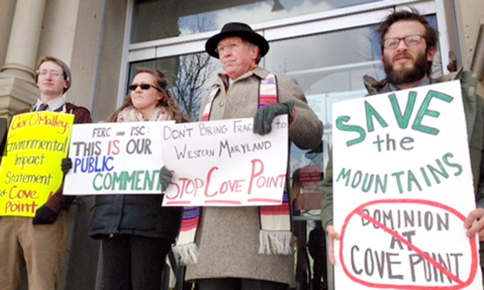 4 Arrested at Cumberland Courthouse in Protest of Cove Point Fracked Gas Export Plan