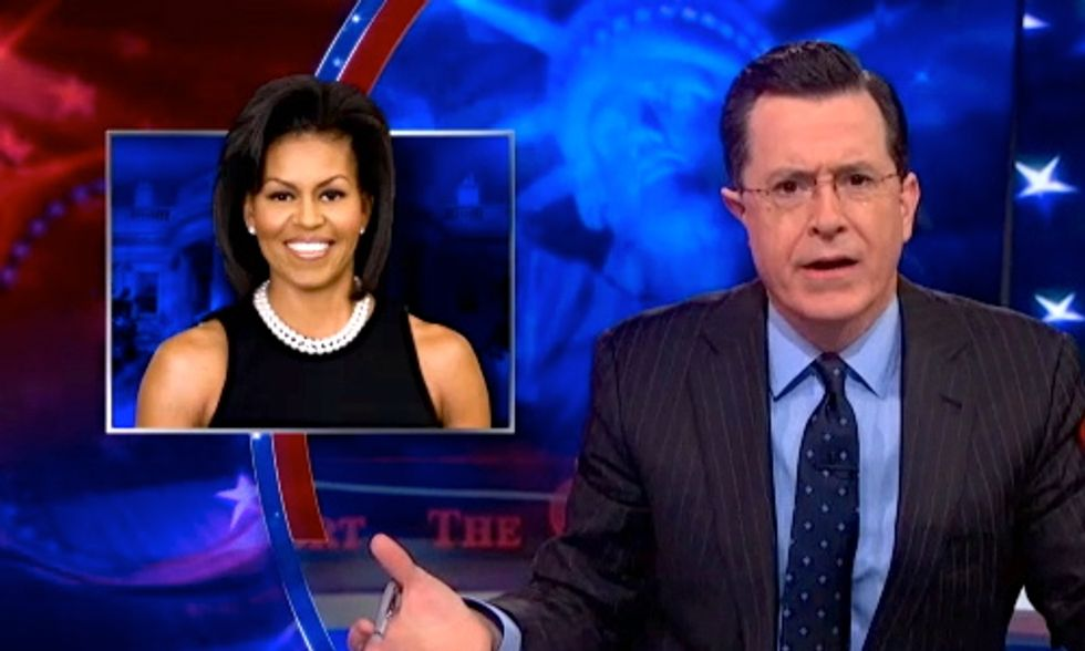 Colbert Roasts Michelle Obama's 'Let's Move!' Campaign as Child Obesity Plummets