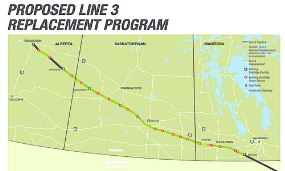 Enbridge to Double Carrying Capacity of Line 3 Tar Sands Pipeline