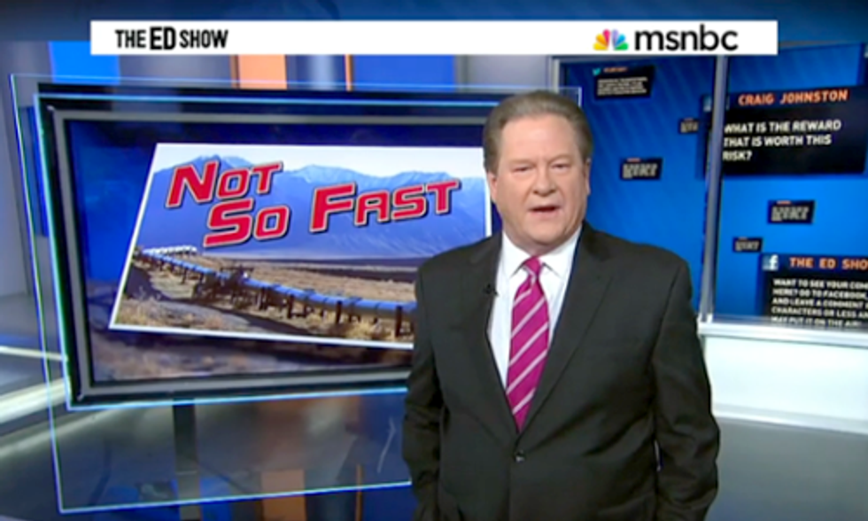 MSNBC's Ed Schultz: 'I Was Wrong,' Don't Build Keystone XL Pipeline