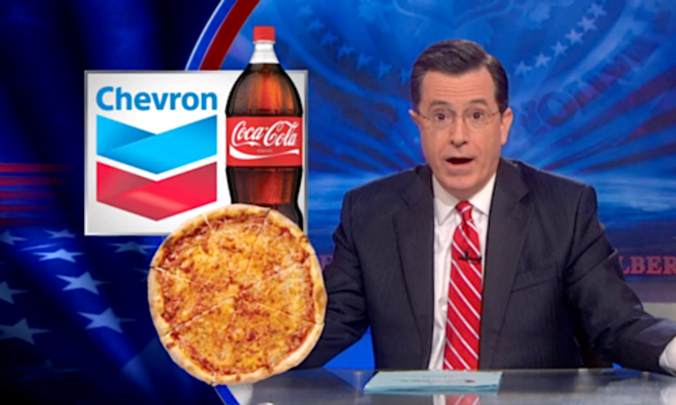 Colbert 'Tips His Hat' to Chevron's Apology Tactics After Gas Well Explosion