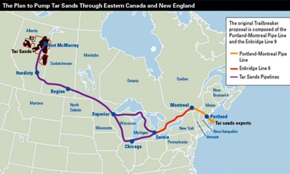 Pipeline Approved to Bring Tar Sands to Montreal and New England's Doorstep