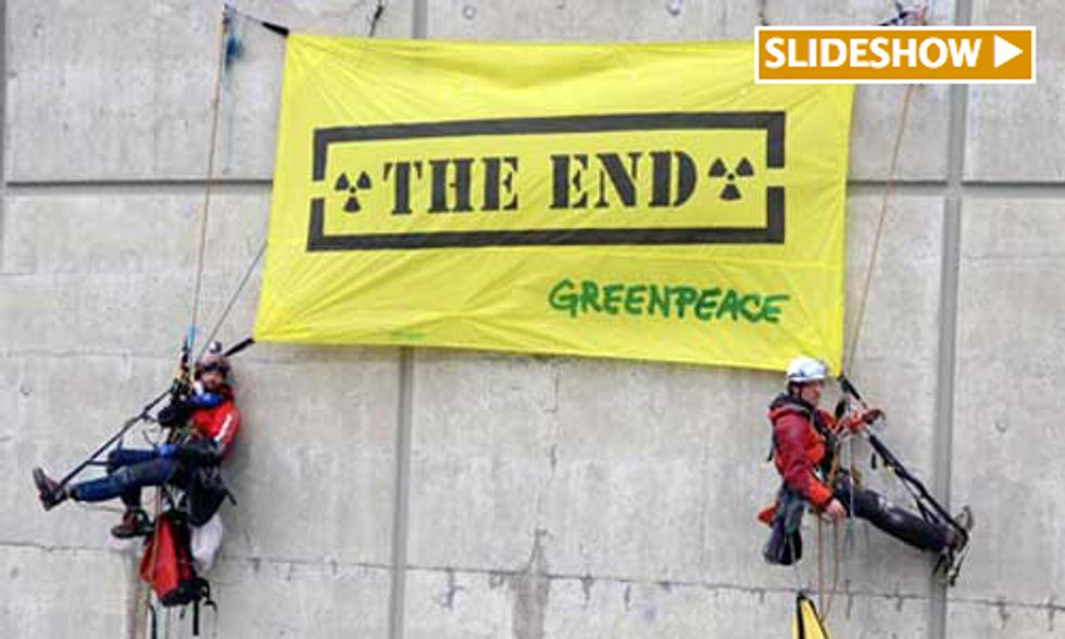 240 Greenpeace Activists Take Direct Action Protesting Europe's Aging Nuclear Reactors