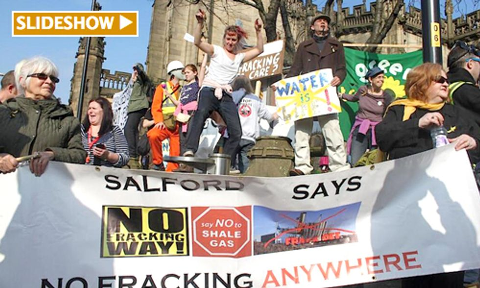 1,000 March at Largest Fracking Protest in UK History