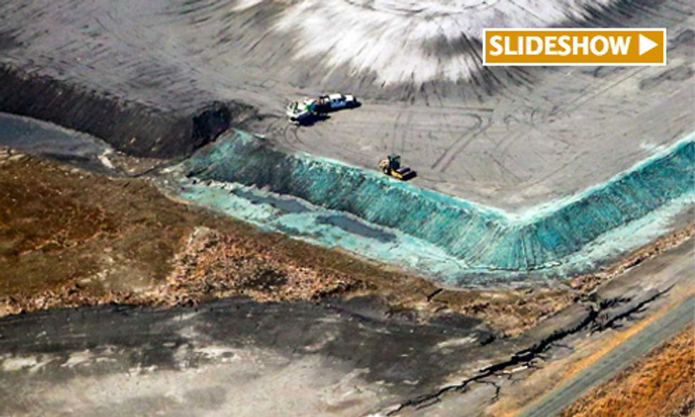 Breaking: Duke Energy Caught Dumping Wastewater from Coal Ash Lagoon Into Local Watershed
