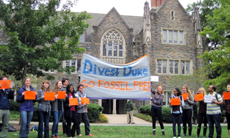 Divest Duke Urges University to Phase Out Investment in Fossil Fuels