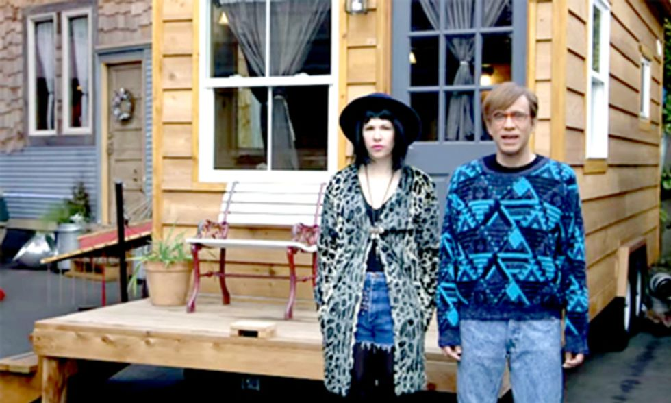 Watch Portlandia's Hilarious Take on Life Inside a Tiny House