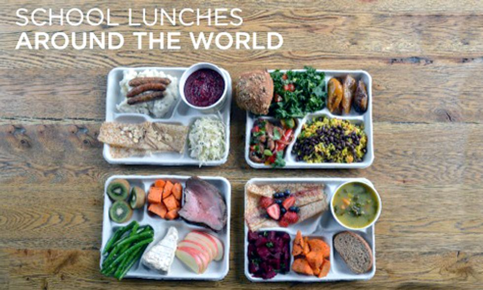 Striking Photos Show What Kids Around the World Eat for Lunch