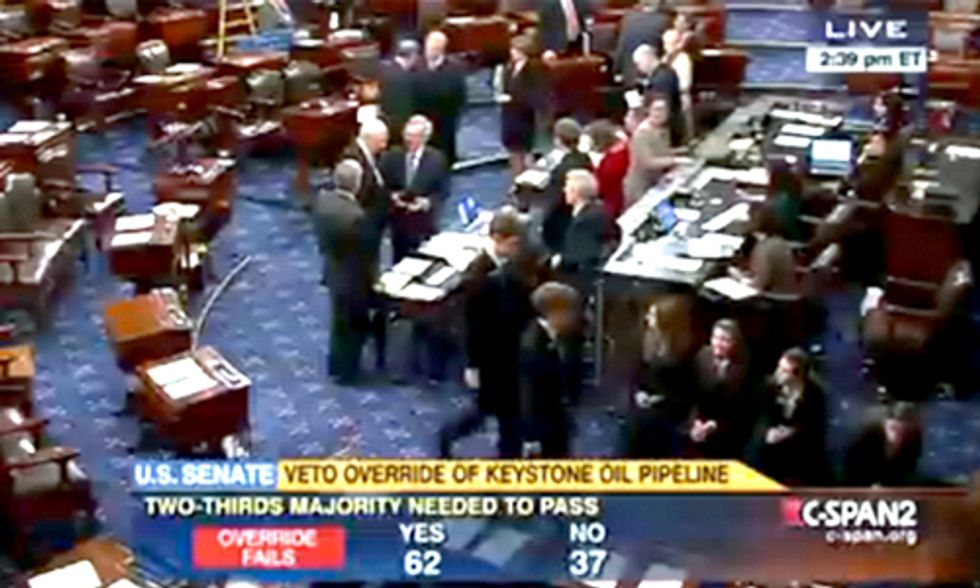 Keystone XL Veto Override Fails in Senate