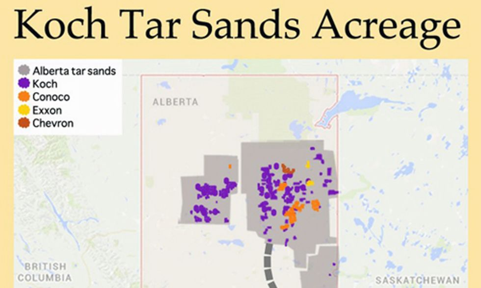 New Map Shows Koch's Connection to Keystone