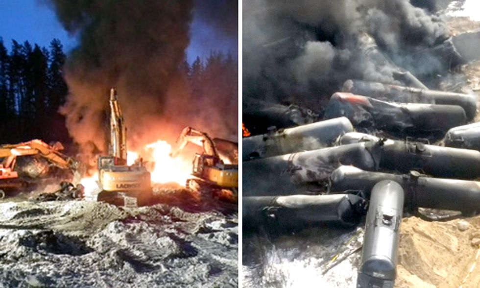 Yet Another Oil Bomb Train Explosion Marks Fourth Derailment in Four Weeks