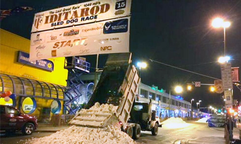 Snow Trucked in for Iditarod, Ski Resorts Remain Closed as February Experienced Most Extreme Weather in History