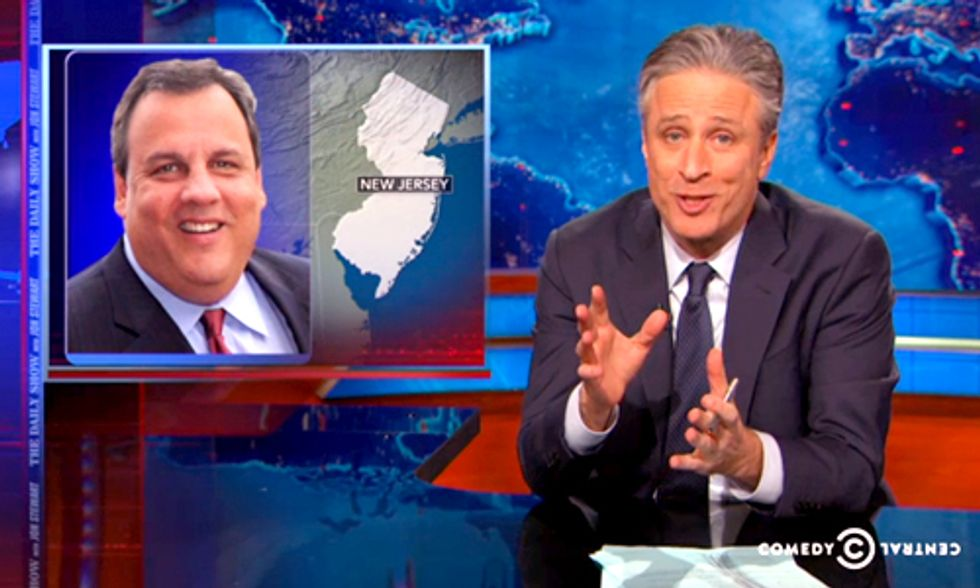 Jon Stewart Hammers Gov. Christie Over Staggering Exxon Spill Settlement