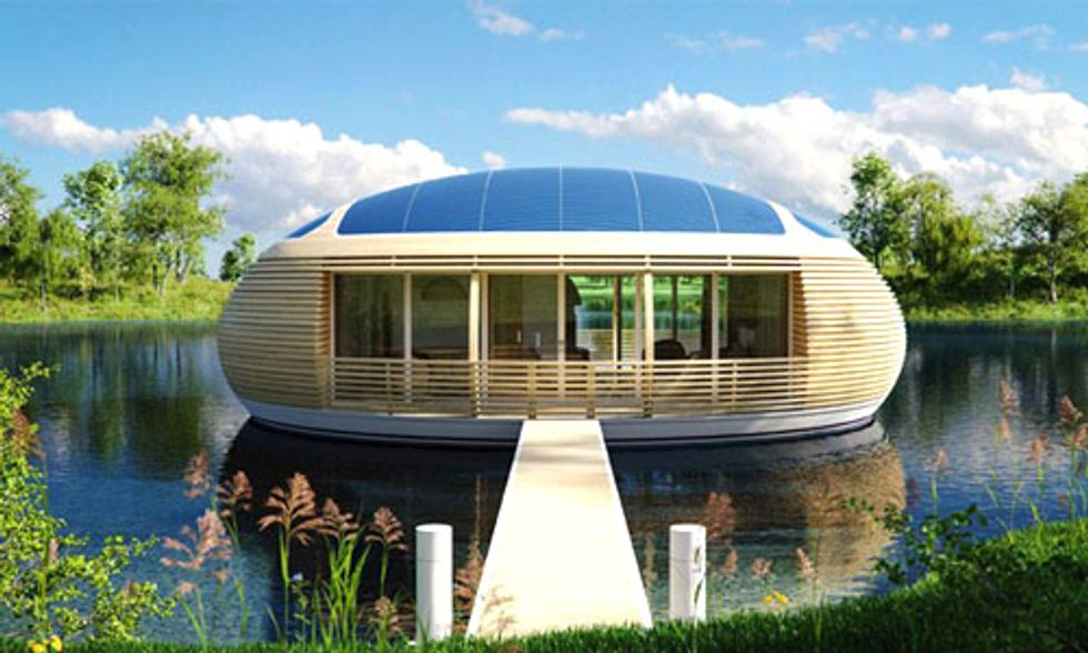 Floating Solar-Powered Eco-Home Is 98% Recyclable