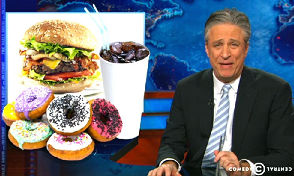 Jon Stewart Hammers Big Food for 'Death Menu of Artificial Chemicals, Antibiotics and Cool Ranch Carcinogens'