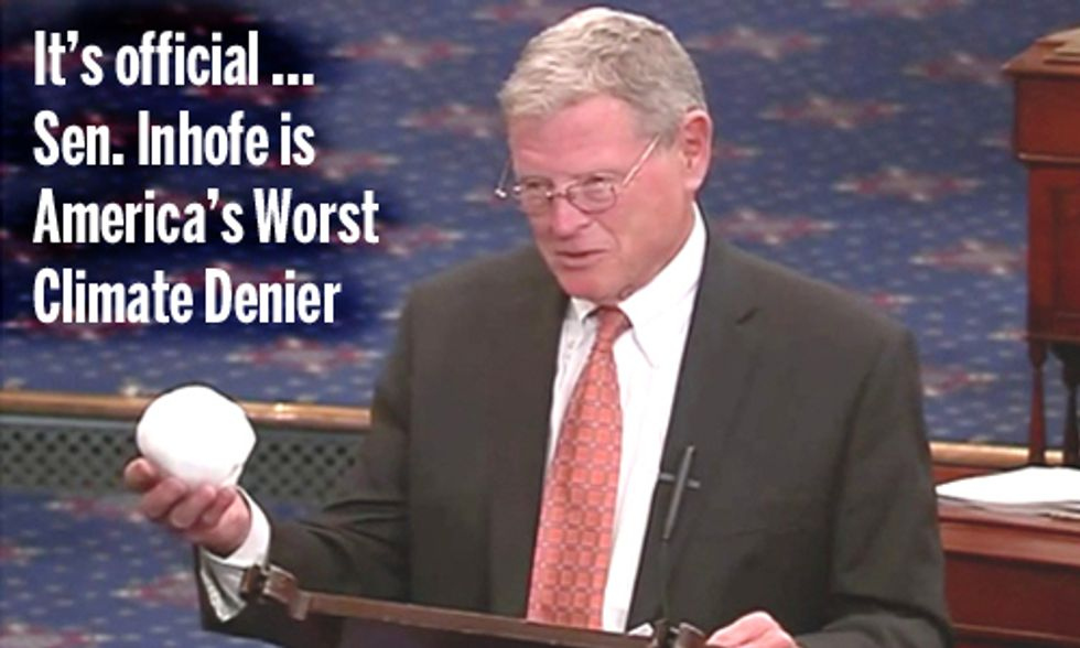 It's Official ... the Winner of the Worst Climate Denier in Congress Is ...