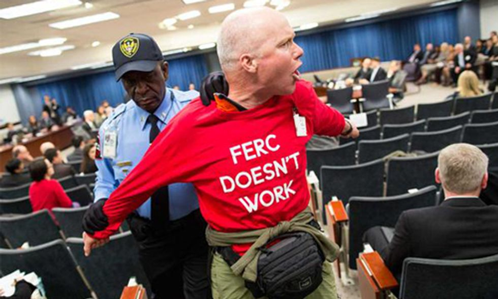 Protesters Removed After Disrupting Monthly FERC Meeting