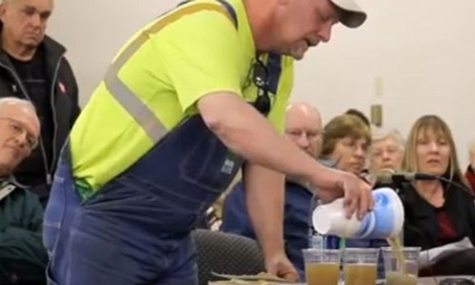 Watch Viral Video: Nebraska Man Asks Oil and Gas Commission One Simple Question: 'Would You Drink It?'