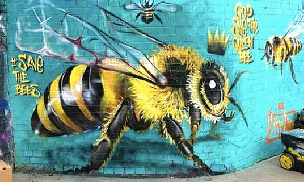 Buzzing Artist Swarms City Walls to Save the Bees
