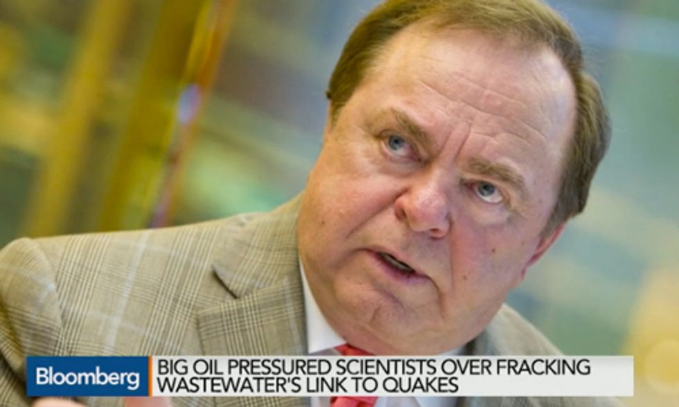 Oil and Gas Billionaire Pressured Oklahoma Scientist to Ignore Fracking-Earthquake Link