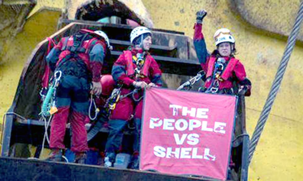 Follow Live: 6 Greenpeace Activists Aboard Arctic-Bound Shell Oil Rig