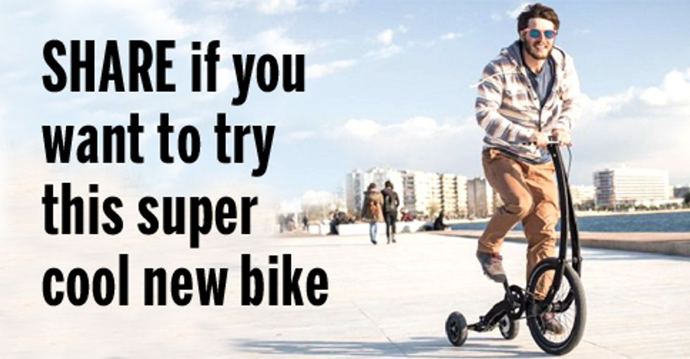 It's a Bike ... It's a Scooter ... It's a Fun New Way to Ride Around Town