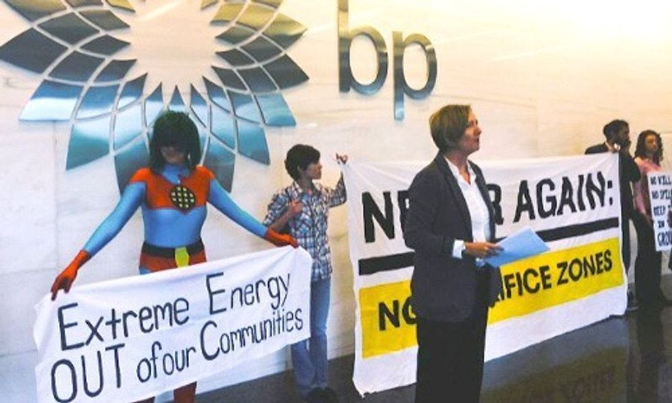 6 Arrested at BP Headquarters in Week of Action for Gulf Oil Spill Anniversary