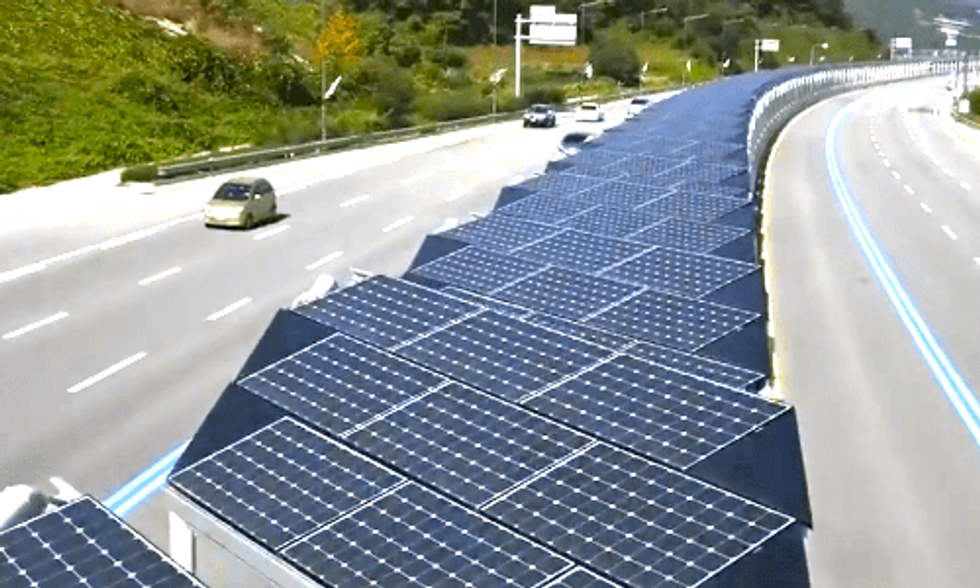 20-Mile Bike Lane Is Also Massive Solar Array