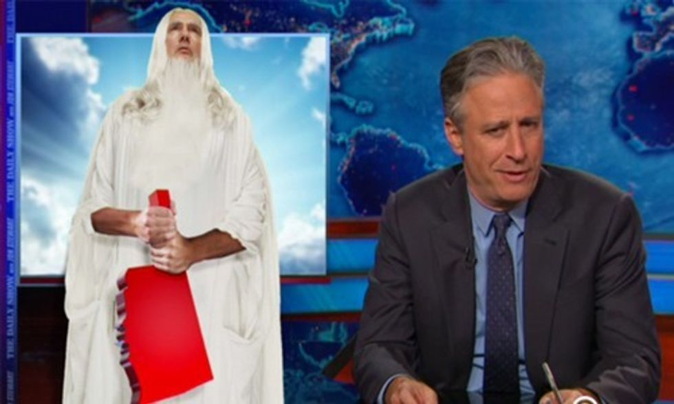 Jon Stewart's Hilarious Take on Oklahoma's Fracking Earthquakes