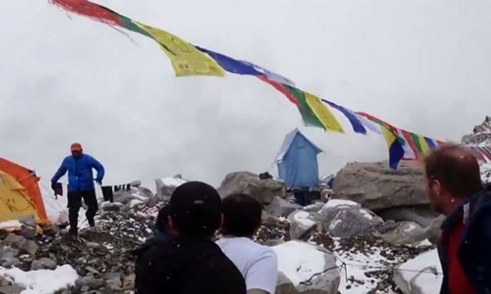 Watch: Avalanche From Nepal Earthquake Rips Through Mt. Everest Base Camp